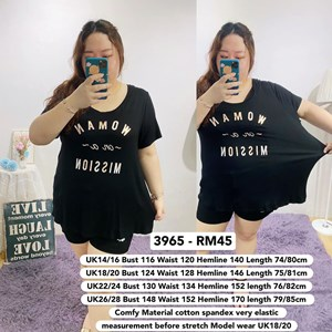 3965   *Ready Stock *Bust 39 to 59 inch/ 100-150cm