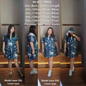 NC402 Ready Stock   *Bust 43 to 55 inch/ 109-139cm