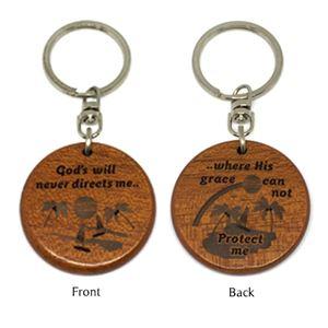 Wooden Round  Keychains