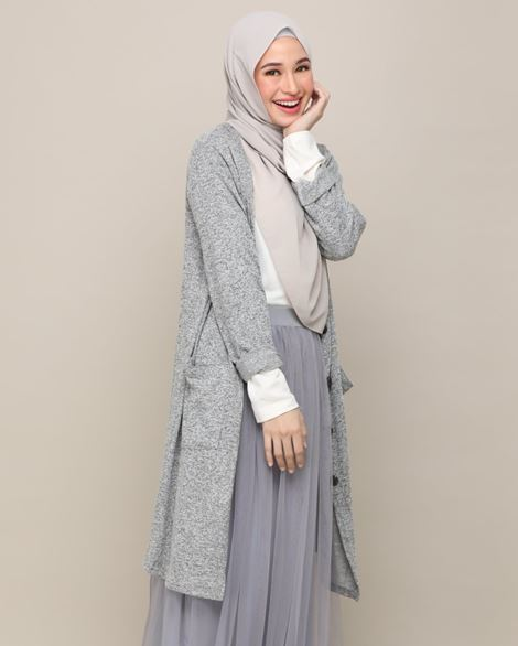 DANIA CARDIGAN IN GREY