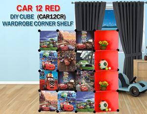 Cars RED 12C DIY Wardrobe with Corner Shelf (CAR12CR)