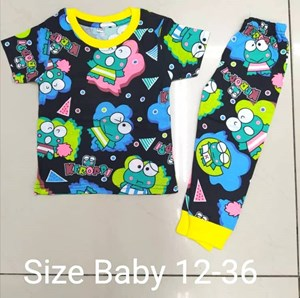 Pyjamas KEROPPI BLACK  : BABY 12M