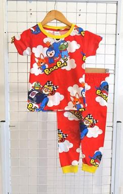 BABY 6M  Pyjamas PORORO PARK RED (HELAL)