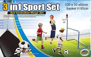 3 in 1 football,basketball,dart merge set / 3 in 1 sport