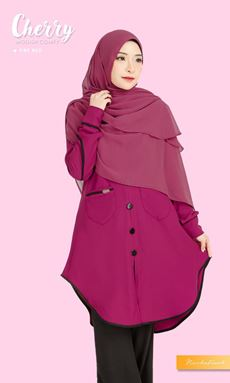 BLOUSE CHERRY - FIRE RED