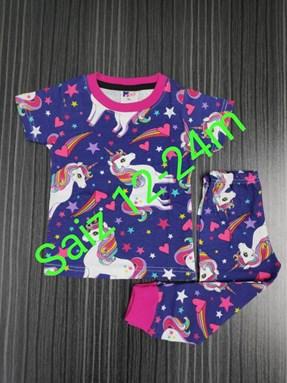 Pyjamas Unicorn Valley  : BABY size 12m -24m