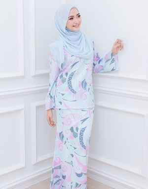 BIANCA LOOSE KURUNG IN POWDER BLUE/LILAC