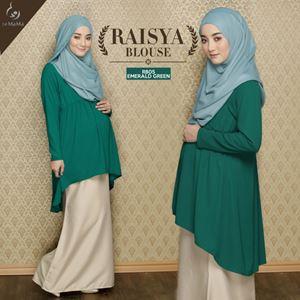 Raisya Blouse : Emerald Green
