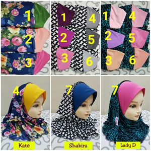 Shawl LD Plain Printed : Kate, Shakira, Lady D