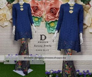 Kurung Lace Armila Dark Blue