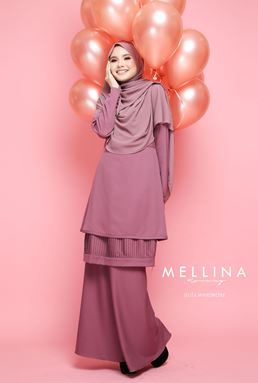 MELLINA STYLISH KURUNG 💕 02 (MAG PURPLE)