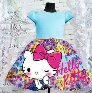 J & Y ( J-097 KITTY ) DRESS - SZ 2Y - 8Y