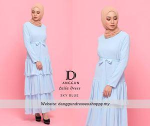 Laila Dress Sky Blue