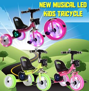 New Musical Led Kids Tricycle