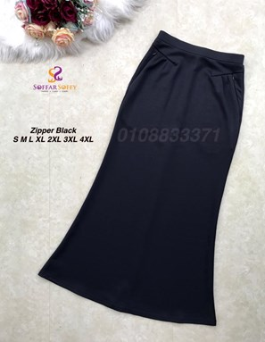 ZIPPER BLACK ( SAIZ S M L XL 2XL 3XL 4XL )