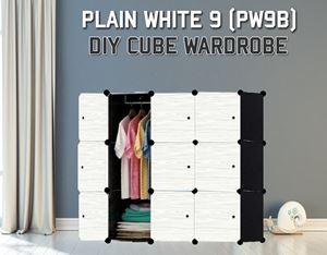 Plain White 9C Diy Wardrobe (PW9B)