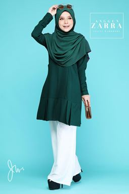 BLOUSE ANGGUN ZARRA ( EMERALD GREEN )
