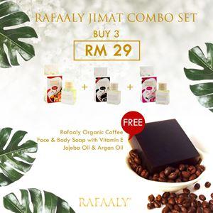 RAFAALY JIMAT COMBO SET (Sabun Kopi Argan Oil)