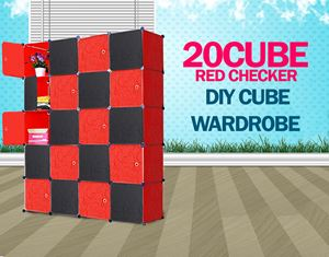 PLAIN CHECKER BLACKRED 20C DIY CUBE (BR20)
