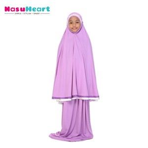 Telekung Rose Purple
