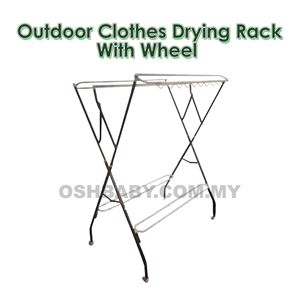 OUTDOOR CLOTHES DRYING RACK WITH WHEEL