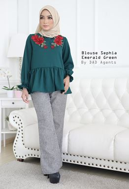 Blouse Sephia Emerald Green