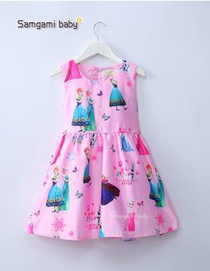 @  SAMGAMI DRESS 002  - FROZEN PINK.   SZ 100-140 )