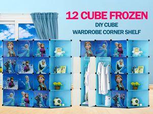 Frozen Blue 12C DIY Cube w Corner Rack (FZ12CB)