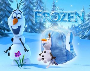 FROZEN OLAF 3D BAG BLUE