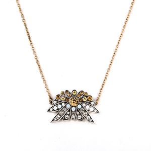 LULU FROST LARKSPUR CRYSTAL PAVE PENDANT NECKLACE INSPIRED