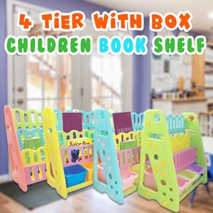4 Tier  CHILDREN BOOK SHELF With Box