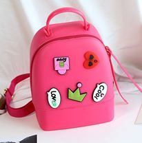 SILICONE JELLY BACKPACK ( DARK PINK )