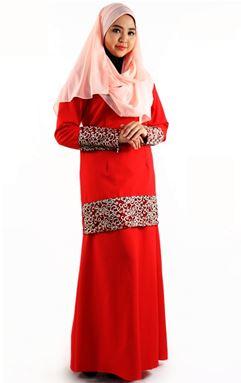 BAJU KURUNG DURRAH ( RED )
