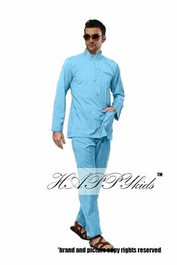 @  HAPPYKIDS SCALLOP  ( MAN - LIGHT BLUE )  S-2XL