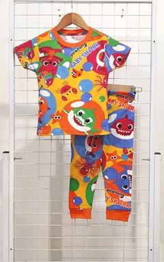 SIZE 12 BIG KIDS Pyjamas BABY SHARK PINKFONG ORANGE (GL)