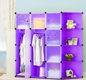 Plain Purple 12C DIY Cube w Corner Rack (PP12CR)