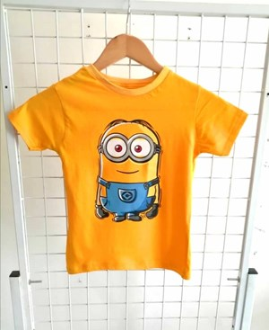 T-Shirt Short Sleeve Minion Yellow: Size 7y-12y (7 - 12 tahun) RS