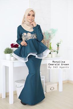 Peplum Monalisa Emerald Green