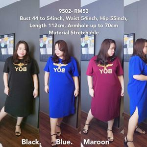 9502 Ready Stock *Bust 44 to 54 inch/ 110-137cm