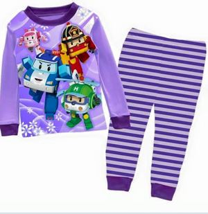 Pyjamas Set - Robocar Poli Purple