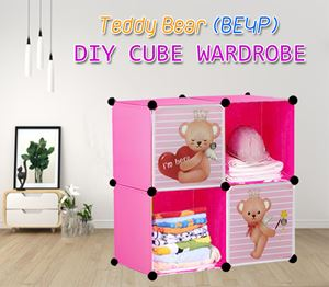 Teddy Bear 4C DIY CUBE WARDROBE (BE4P)