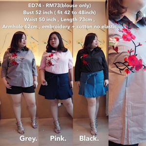 ED74 Ready Stock  *Bust 52 inch ( fit 42 to 48inch)