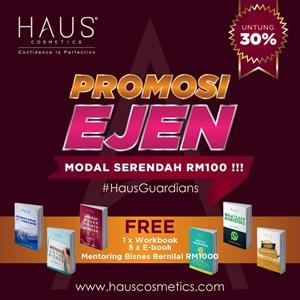 Daftar Ejen HAUS Cosmetics Diskaun 30%