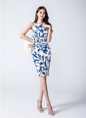 OL Halter Slim Dress
