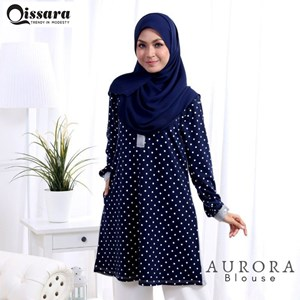 Blouse Aurora ( GREY )- Nursing and Wudhu Friendly ( Button)