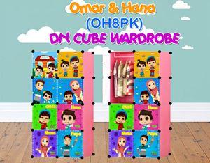 Omar & Hana PINK 8C DIY WARDROBE (OH8PK)