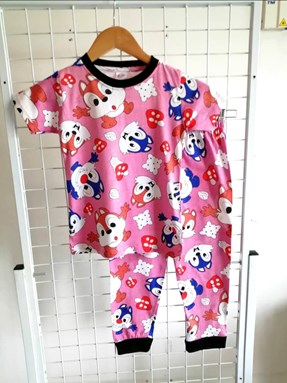 Pyjamas CHIPMUNK PINK :  BIG Size 12 -18