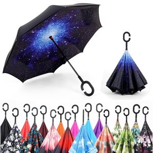 INVERTED REVERSE UMBRELLA DOUBLE LAYER C HANDLE C HOOK