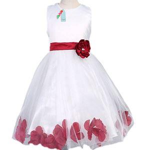 L106 WHITE DINNER DRESS ( MAROON FLOWER )
