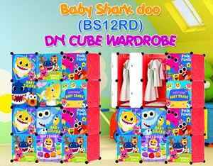 Baby Shark Doo RED 12C DIY WARDROBE (BS12RD)